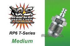 O.S. Glow Plug Type RP6 Medium for most .12-.21 On-Road Racing Turbo Head Engine