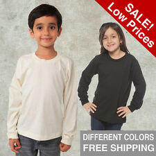 Kids T Shirt Long Sleeve Organic Tee Apparel American Lids Cloth Black White