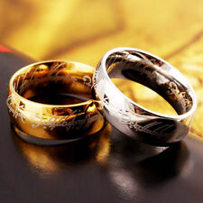 Size 6-13 8MM Tungsten Stainless Steel Ring Lord of Rings LOTR The One Wedding