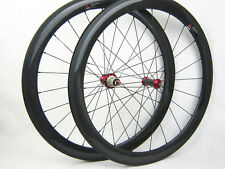 23mm width  50mm clincher full carbon fiber road bike wheels carbon bike hub