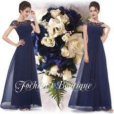 BNWT Katie Navy Lace Full Length Maxi Prom Evening Cruise Ballgown Dress 12-16