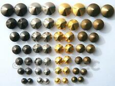 Leather Bags Shoes 5-12mm options Round Prism Dome Rivets/Burr Set Steel Plated