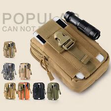 Outdoor Sport Molle Waist Pack Phone Pouch Utility Fanny Belt Bag Camping Hiking