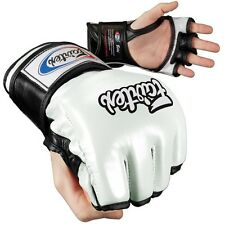 NEW! Fairtex Ultimate Combat Mixed Martial Arts Gloves - White Black -  MMA UFC