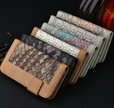 Leather Flip Wallet Card Slot Case Folio Pouch Stand Cover For iPhone 6 6S Plus