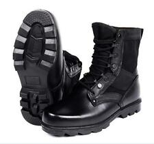 Men Outdoor Leather Tactical Steel Toe Combat Security Police Hunt Boots Shoes