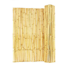 Privacy Bamboo Fence Wood Rolled Cover Natural Backyard Wall Border Garden Stand