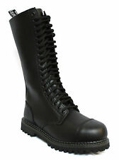 Grinders King Black Mens Unisex Safety Steel Toe Cap Military Punk Boots