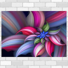 Spiral Flower Abstract - Poster - Print - Wall Art