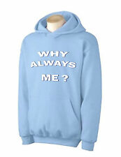 WHY ALWAYS ME? HOODIE - Mario Balotelli Manchester City MCFC T-Shirt - Sz S-XXL