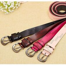 Fashion Lady Women Hollow Simple Wide Leather Belt Pin Buckle Strap Waistband