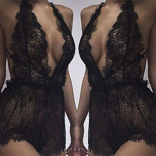 Sexy Lingerie Women's Lace Floral Sheer Dress Bralette Nightwear Sleepwear