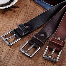 Fashion Men's Casual Wide Soft Leather Belt Strap Metal Pin Buckle Waistband