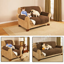 Qulited Sofa Armchair Slip Cover Couch Settee Protector Pet Dog Hammock Throw UK