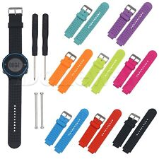 Silicone Rubber Watch Band Strap For Garmin Forerunner 220 230 235 620 630 735