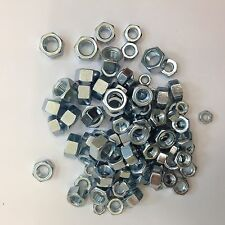UNF IMPERIAL HEXAGON FULL NUTS ZINC 10 UNF,1/4, 5/16, 3/8, 7/16, 1/2, 5/8