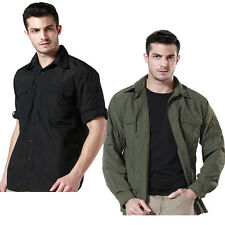 Men Outdoor Tactical Hiking Hunting Coat Quick-drying Long Sleeve Shirts Jacket