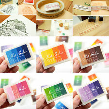 Craft Inkpads Oil based Ink Pads For Paper Fabric Wood Rubber Stamps 24 Colors