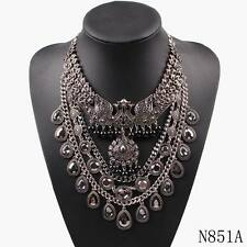 2017 new arrival metal chain necklace charm costume bib chunky statement pendant