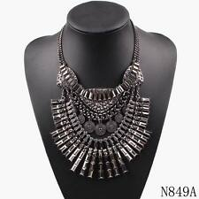 new arrival luxury metal chain necklace fashion bib chunky statement necklace