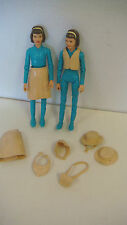 MARX JOHNNY WEST JANICE 2 DOLL  ACTION FIGURE 8 ACCESSSORIES