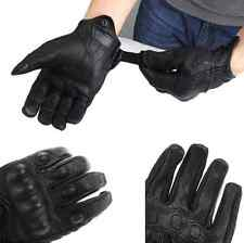 Bike Racing Gloves Motorcycle Riding Protective Armor Short Leather Gloves Black