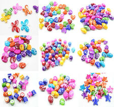 30Pcs Mixed Color Acrylic Butterfly Heart Star Large Spacer Beads Charm DIY