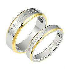 Men's Women's Steel Lover Ring Couple Rings Wedding Bands Jewelry Gift Hot Sale