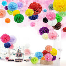 Mixed Colour Mixed Sizes Tissue Paper Wedding Party Decoration Hanging Pom Poms