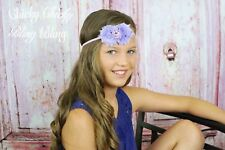 Baby Girl Infant Toddler Cute Chic Shabby Bow Headband thin cotton