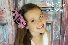 "Girls  Toddler 5"" grosgrain boutique Layered Hair Bows clips"
