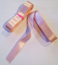 Pink Ballet Shoes Ribbon. Pale Pink/ Ballet Pink  2.5m length 15mm wide NEW!