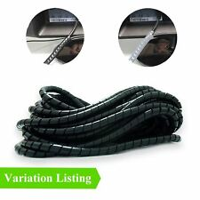 Black Spiral Cable Wrap - TV, Consoles, Computers, Office Wire Tidy Loom Banding