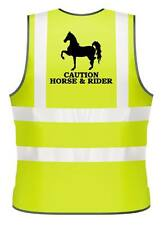 ADULTS HI-VIZ PRINTED CAUTION HORSE & RIDER SAFETY WEAR FOR HORSE RIDING