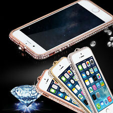 luxury Crystal Rhinestone Diamond Bling Metal Case Cover Bumper For iPhone 5 6