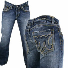 MEK Denim Jeans Men's BIZANI DARK blue destressed Straight leg M1BIZAS4