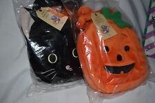 North American Bear Halloween Goody Bag Purse Black Cat Pumpkin Dog Cow Frog NEW