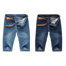 New Mens Cargo Denim Shorts Washed Ripped Jeans Fashion Casual Denim Pants Short