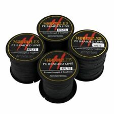 Hercules Black 100M-2000M Dyneema 6lb-300lb Spectra Braid Power PE Fishing Line