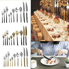 New 10 Pieces Cutlery Set Stainless Steel Kitchen Dining Tableware 3 Colours