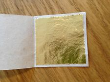 100 x 24K Gold Leaf Sheets. For Art Crafts Design Gilding Framing Scrap