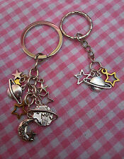 Astronomy Space Keyring With Moon Stars & Planets