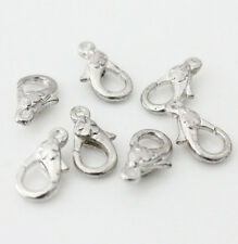 5-20Pcs Silver Plated Large Heart Fish Lobster Fancy Claw Clasps Pick Style