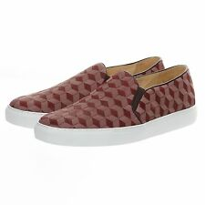 Horsehair Men Slip-on Red Leather Loafers Fashion Casual Shoes Handmade Sneakers
