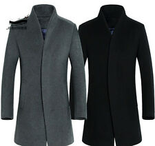 New Mens Coats Overcoat Windbreaker Wool Coat Winter Trench Long Jacket Outwear