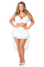 New Women's Sexy Fashion High Low Lace Skirt Party Dress White