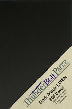 "ThunderBolt Paper 150 Black Linen 80# Cover Paper Sheets - 3"" X 5"" (3X5 Inches)"