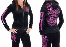 AFFLICTION women's SINFUL Calera Velour PANT or track Hoodie