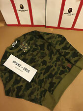 Bape A Bathing Ape Jaquard Sweater/Jumper - Green Camo - Medium - A/W 2015 -