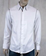 ENGLISH LAUNDRY John Lennon men's PULLFORD dress shirt White stripe JLW1345